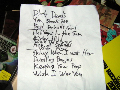 Hayseed_set_list
